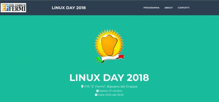 Linuxday 2018 all'ITIS Fermi di Bassano