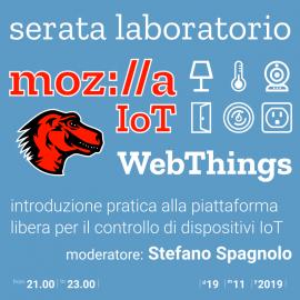 19 novembre 2019 – Laboratorio Mozilla IoT