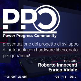 26 novembre 2019 – Presentazione PPC (Power Progress Community)