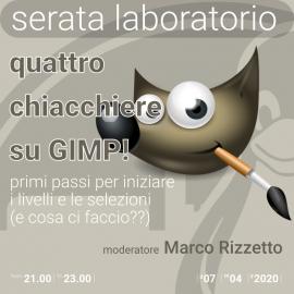 04 aprile 2020 – laboratorio – 4 chiacchiere su GIMP
