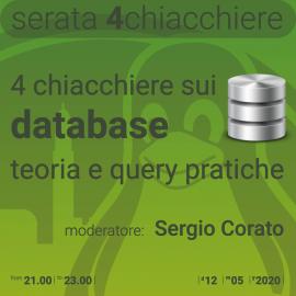 12 maggio 2020 – serata 4 chiacchiere sui database